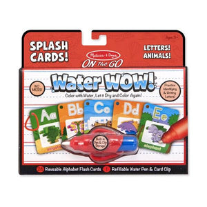 Water Wow Splash Cards Alphabet Toys Melissa & Doug
