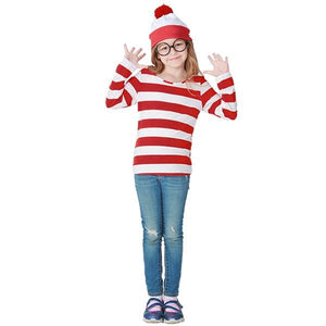 Where's Wally Shirt, Hat & Glasses Dress Up Not specified