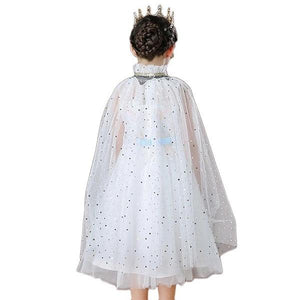 White Chiffon Princess Cape Dress Up Not specified