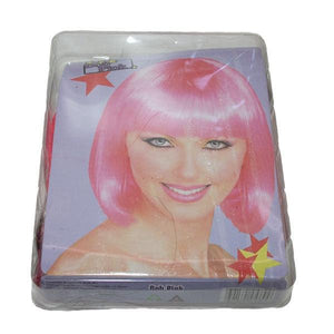 Wig Bob Pink Dress Up Not specified