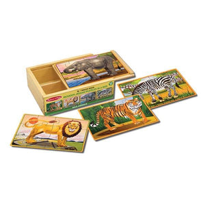 Wild Animals Puzzles in a Box Toys Melissa & Doug