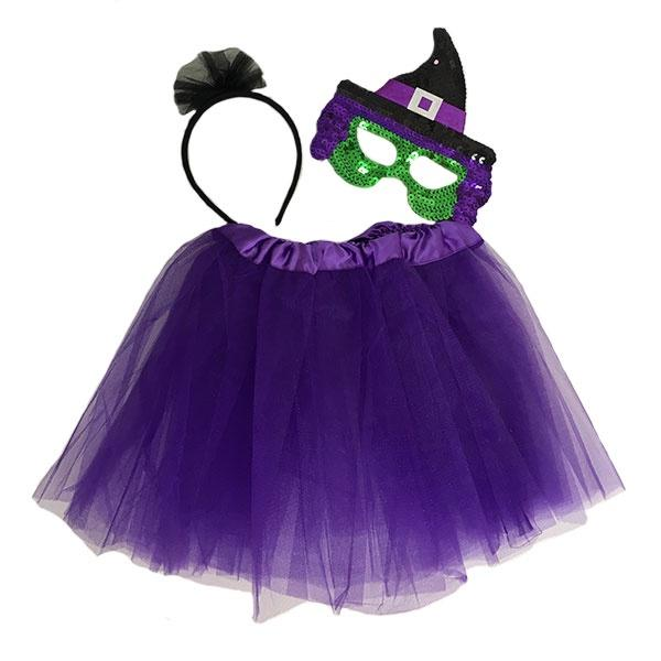 Witch Tutu Set with Mask (Age 3-6)
