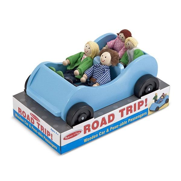 Wooden Car and Passengers