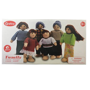 Wooden Family Set 6pc Toys Not specified