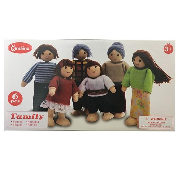 Wooden Family Set 6pc