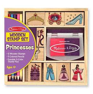 Wooden Princess Stamp Set Toys Melissa & Doug