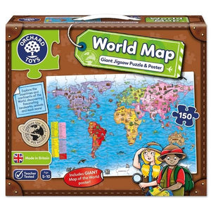 World Map Puzzle & Poster Toys Orchard Toys