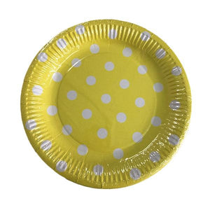 Yellow Polka Dot Plates Parties Not specified