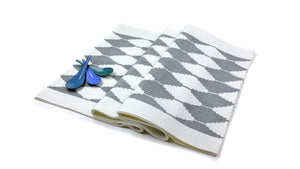 Stepwell Napkin - Set of 4 in Goose Gray