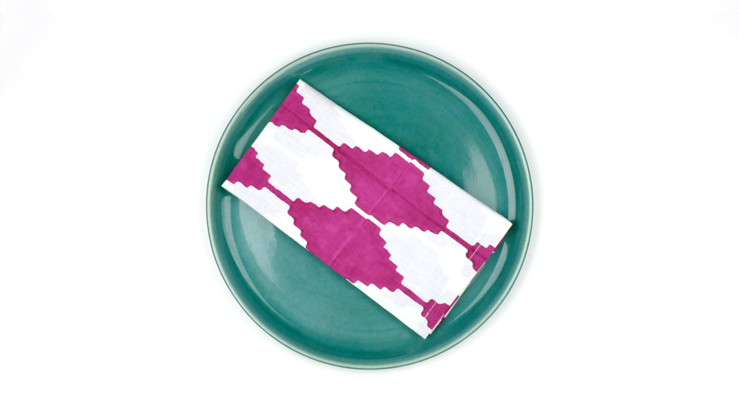 Stepwell Napkins - Set of 4 in Cranberry