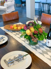 Stepwell Table Runner in Goose Gray