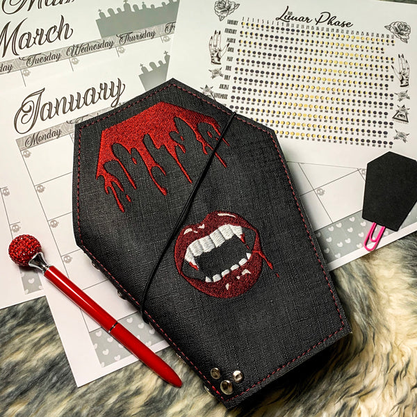"Coffin Vamp Cover - Fits Rockadeadly's ""My Creepy Planner"""
