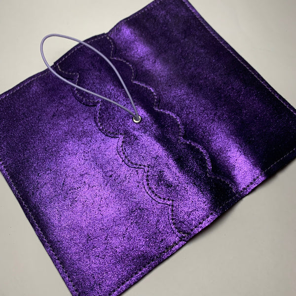 Metallic Purple Leather