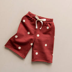 Organic Zoo Burgundy Dots Wide Leg