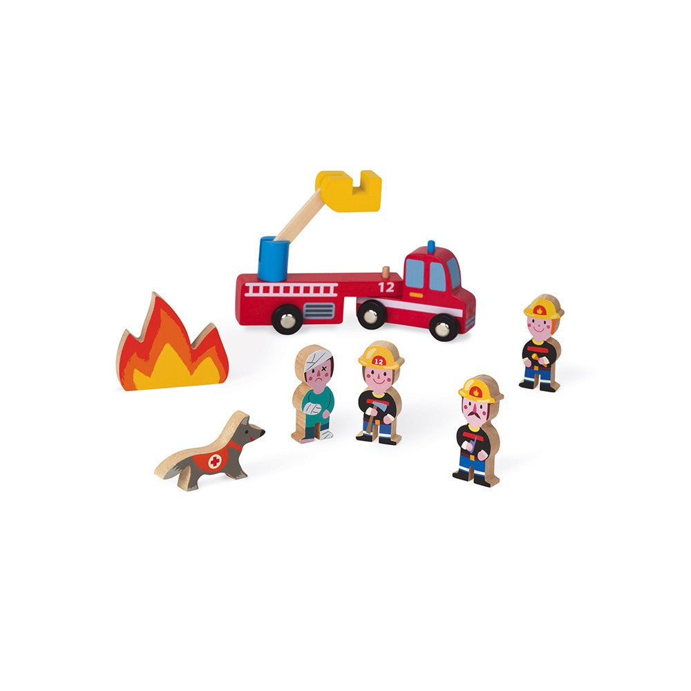 Janod MINI STORY FIREFIGHTERS (WOOD)