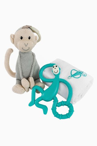 Matchstick Monkey Teething Gift Set - GREEN