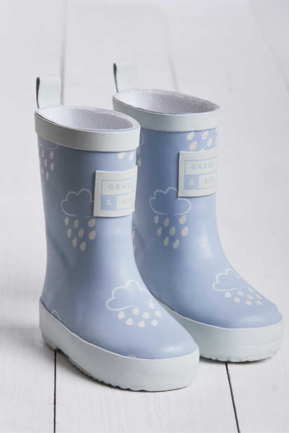 Grass & Air - Revealing Wellies BABY BLUE