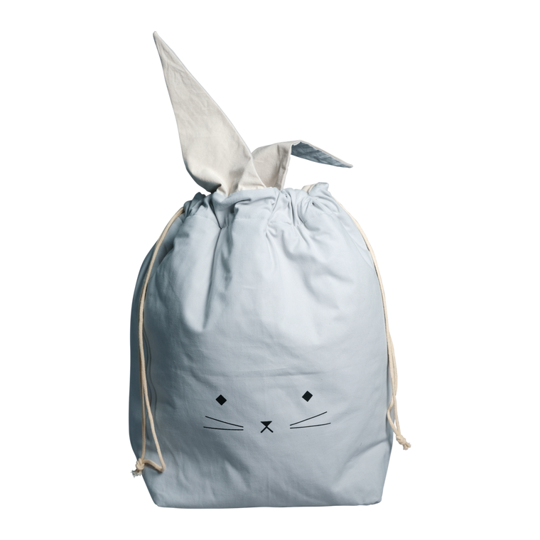 Fabelab STORAGE BAG - SMALL - CAT - FOGGY BLUE