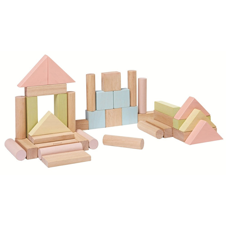 Plan Toys 40 Unit Pastel Blocks