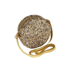 Lula round glitter bag gold