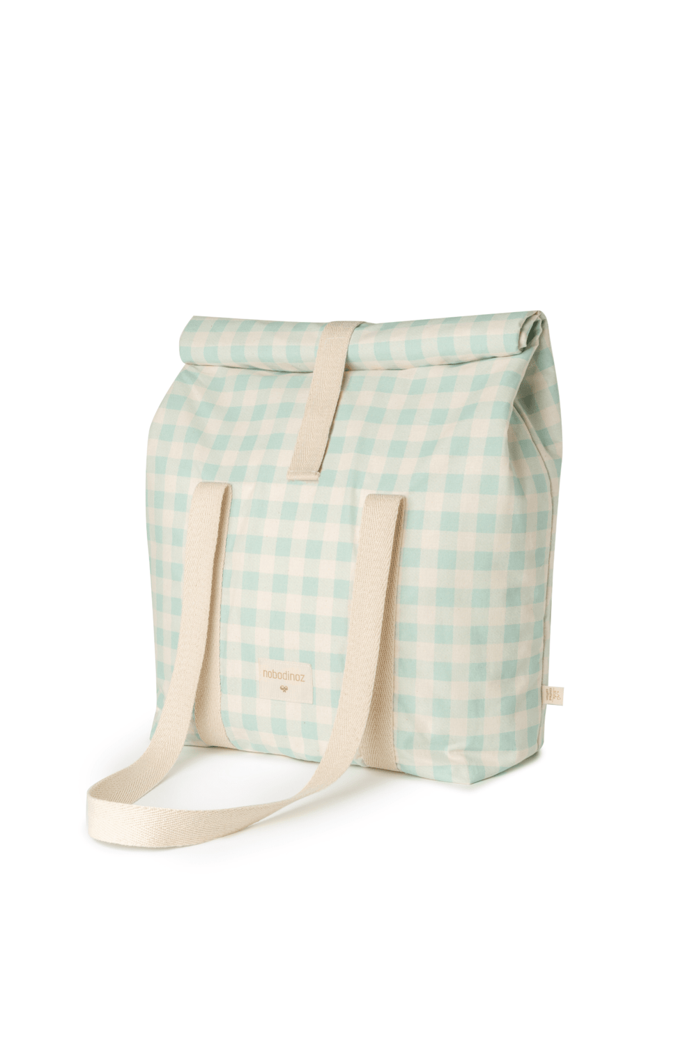 NOBODINOZ SUNSHINE FAMILY COOLER BAG - OPALINE VICHY