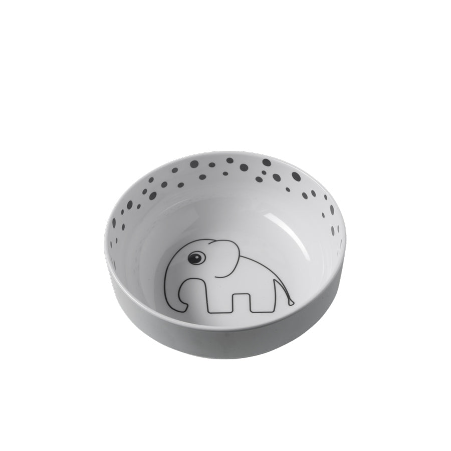 Yummy bowl Happy dots Grey