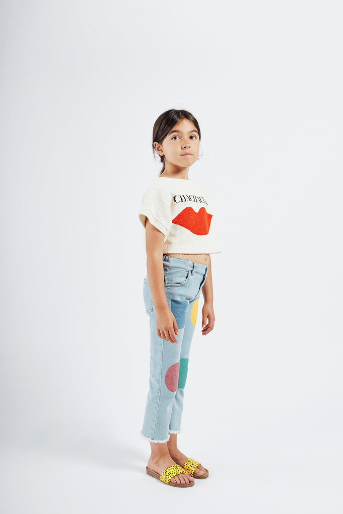 BOBO CHOSES Chachacha Kiss Cropped Sweatshirt