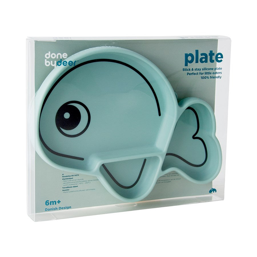 Silicone Stick&Stay plate Wally Blue