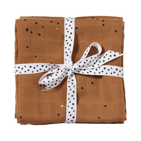 done by deer, Swaddle, 2-pack, Dreamy dots, mustard