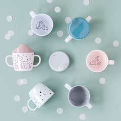 done by deer 2-handle spout cup Dreamy dots Grey