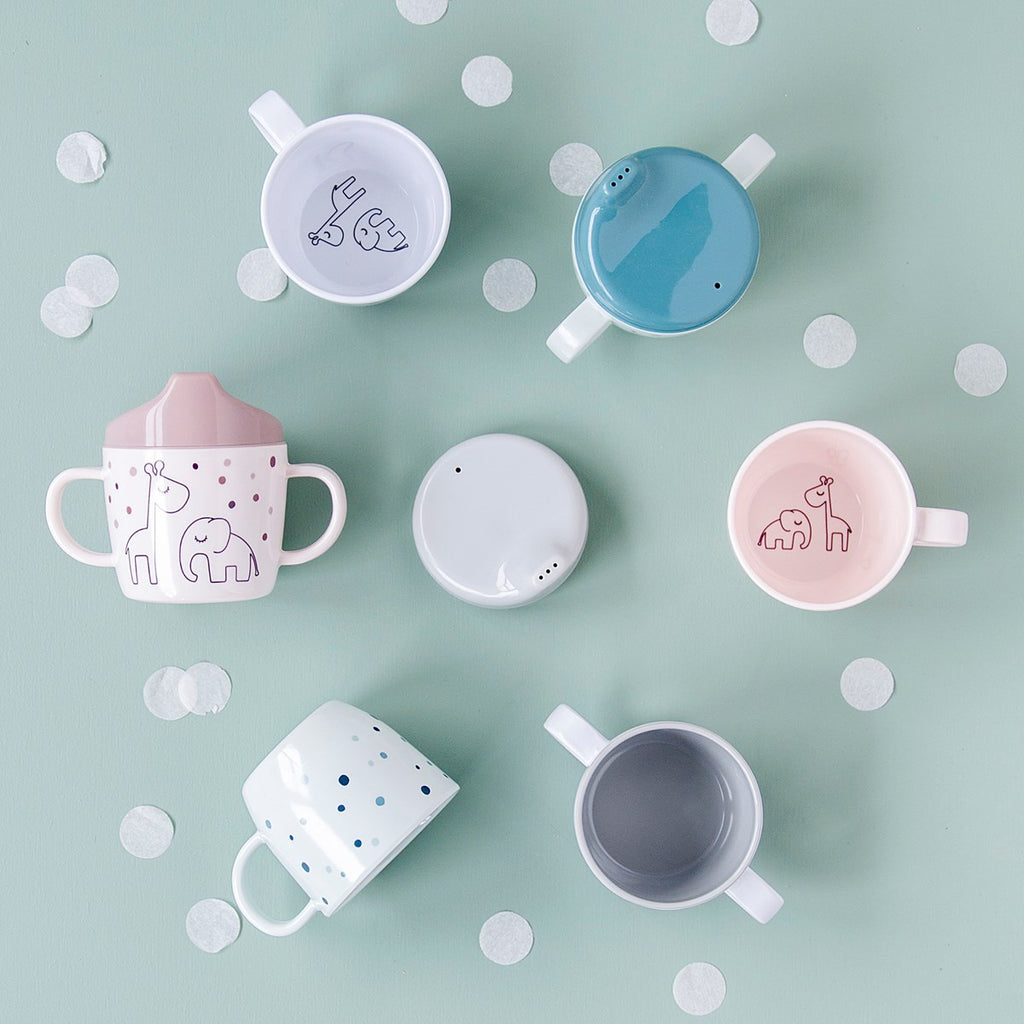 done by deer 2-handle spout cup Dreamy dots Powder