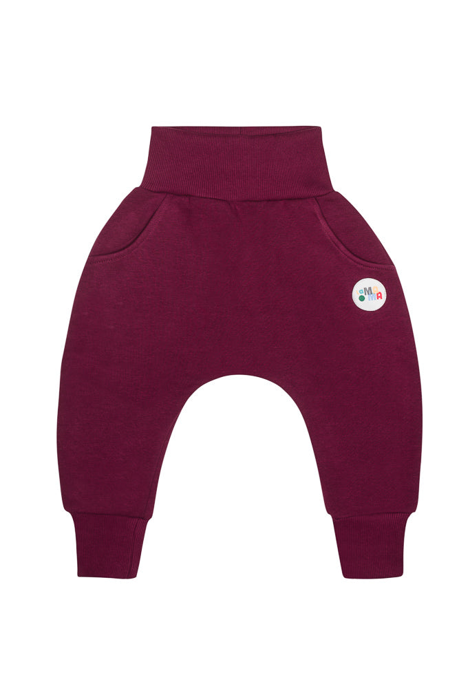 lamama Burgundy Winter Yoga Pants