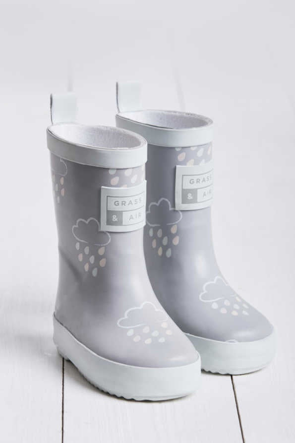 Grass & Air - Revealing Wellies LIGHT GREY