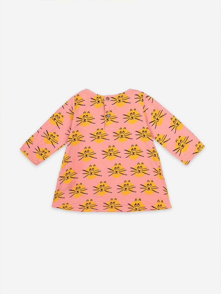BOBO CHOSES  Cat All Over long sleeve dress BABY & TODDLER