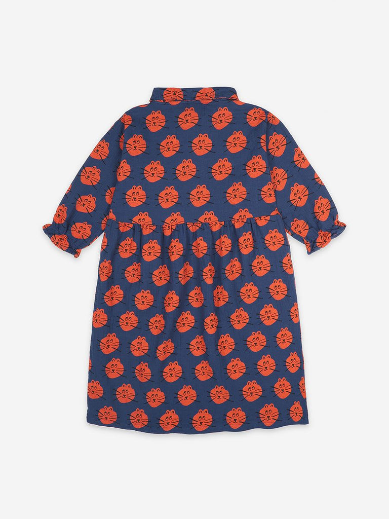 BOBO CHOSES Cat All Over long sleeve dress