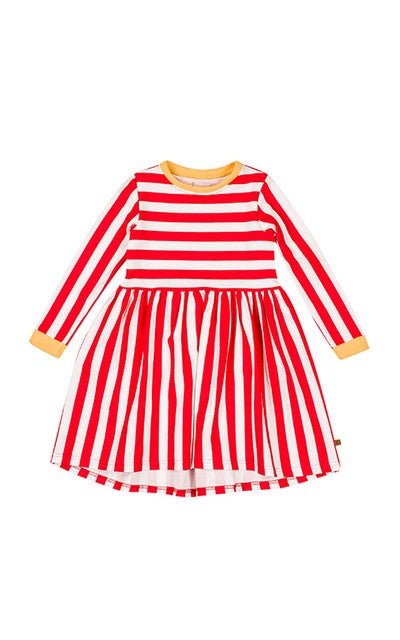 lamama Dress RED STRIPES