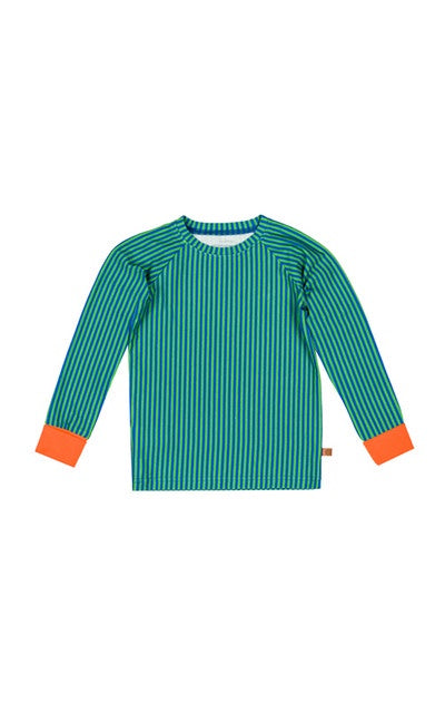 lamama Long Sleeve Tee NIGHT STRIPES