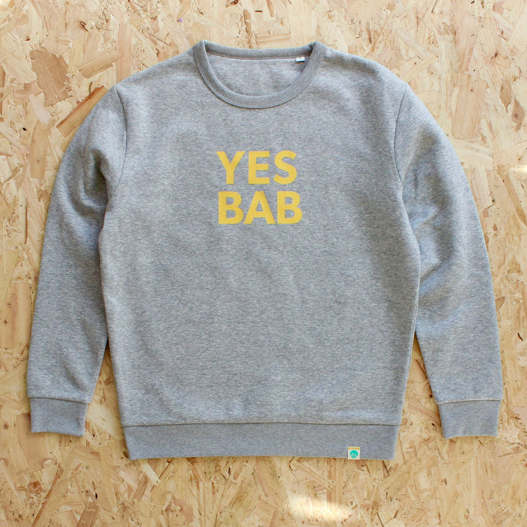 YES BAB ADULTS sweat Punk and Chancers YELLOW / GREY