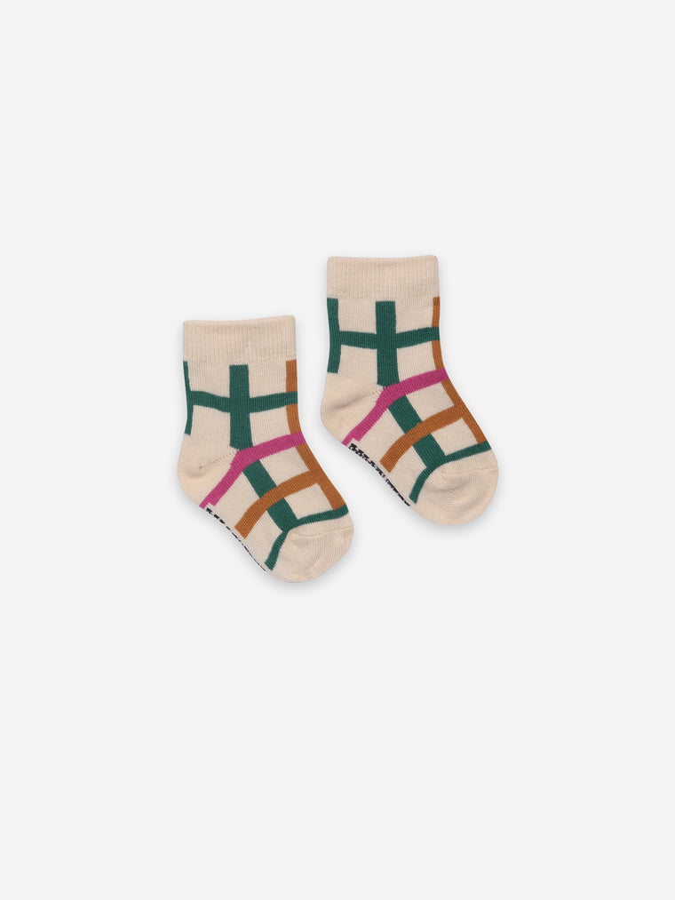 Bobo Choses Green Checkered BABY Socks