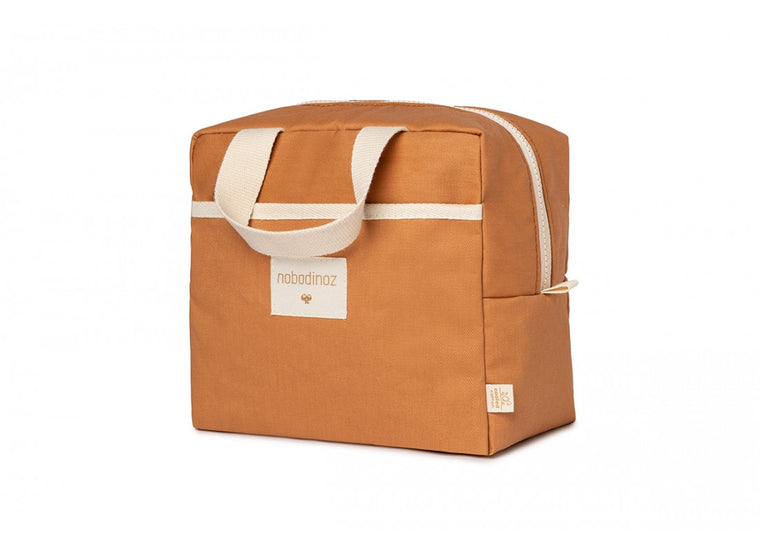 Nobodinoz Sunshine insulated lunch bag cinnamon