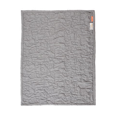 done by deer Quilt gift set, 80 x 100 cm, grey