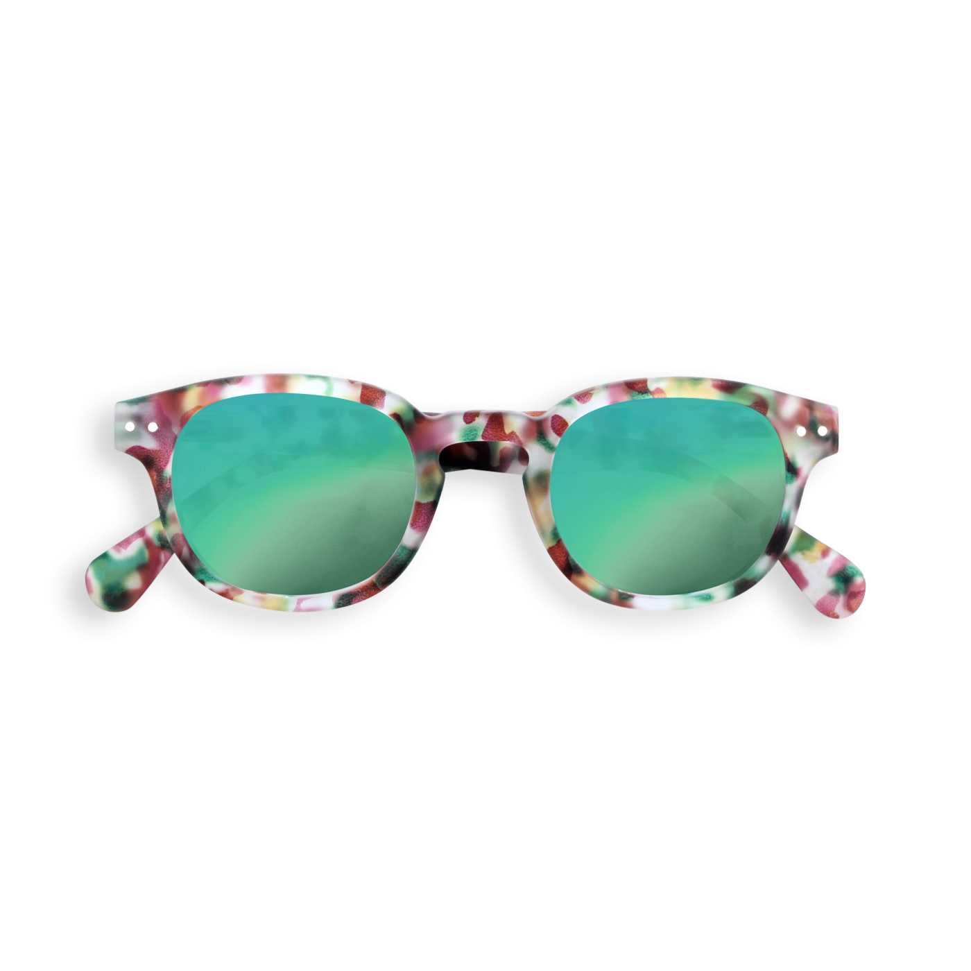 IZIPIZI SUN JUNIOR 3-10 YEARS #C Green Tortoise Mirror