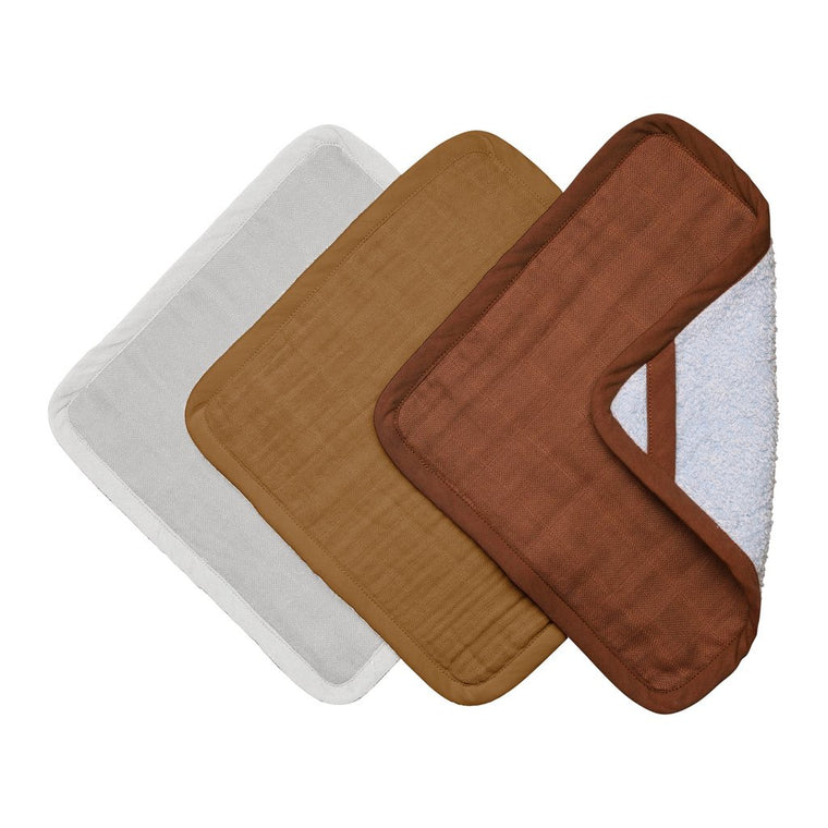 Fabelab Washcloths - 3 Pack - Wood