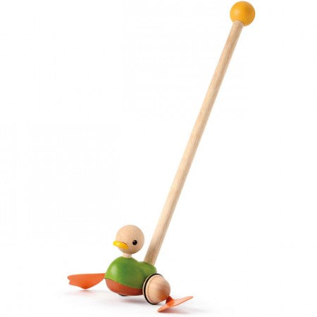 Plan Toys- Push duck toy