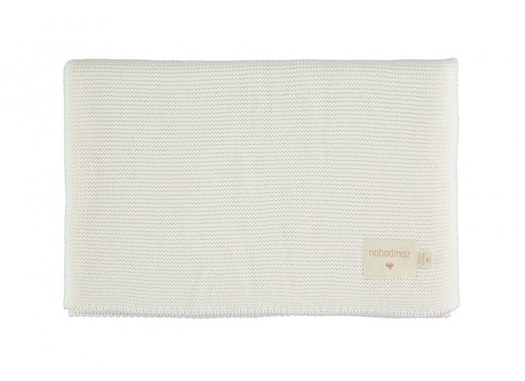 Nobodinoz So Natural knitted baby blanket • Milk