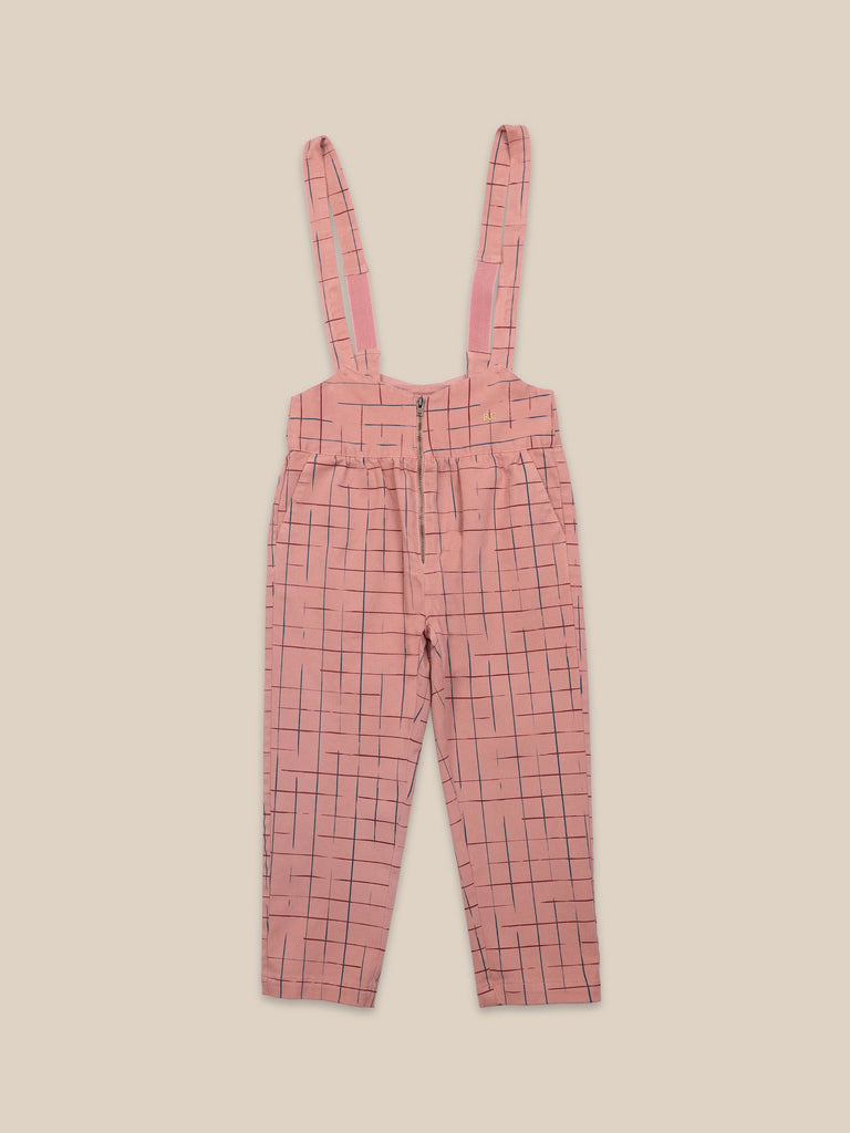 BOBO CHOSES Grid Braces Pants