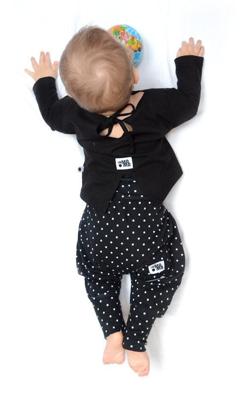 lamama Black Polka Dot All Year Yoga Pants
