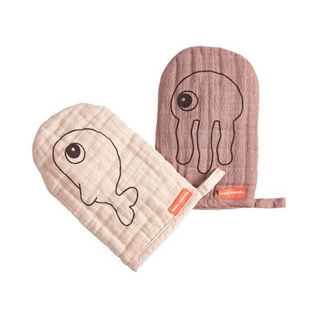 Wash cloth 2-pack Sea friends Powder