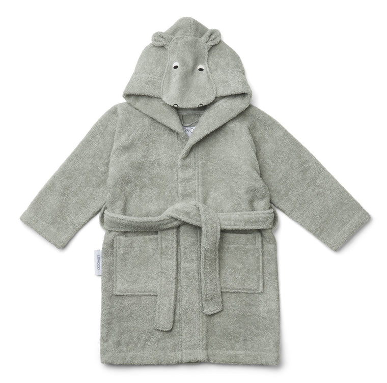 Lily Bathrobe - Hippo dove blue