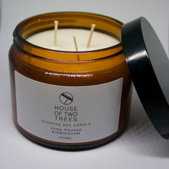 MORNING FOREST | TOBACCO AND OAK Soy Candle - Large